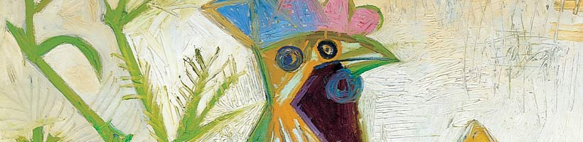 Detail of Pablo Picaso's The Cock of the Liberation