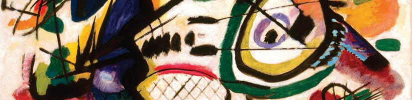 Detail of Vassily Kandinsky's Fragment I for Composition VII