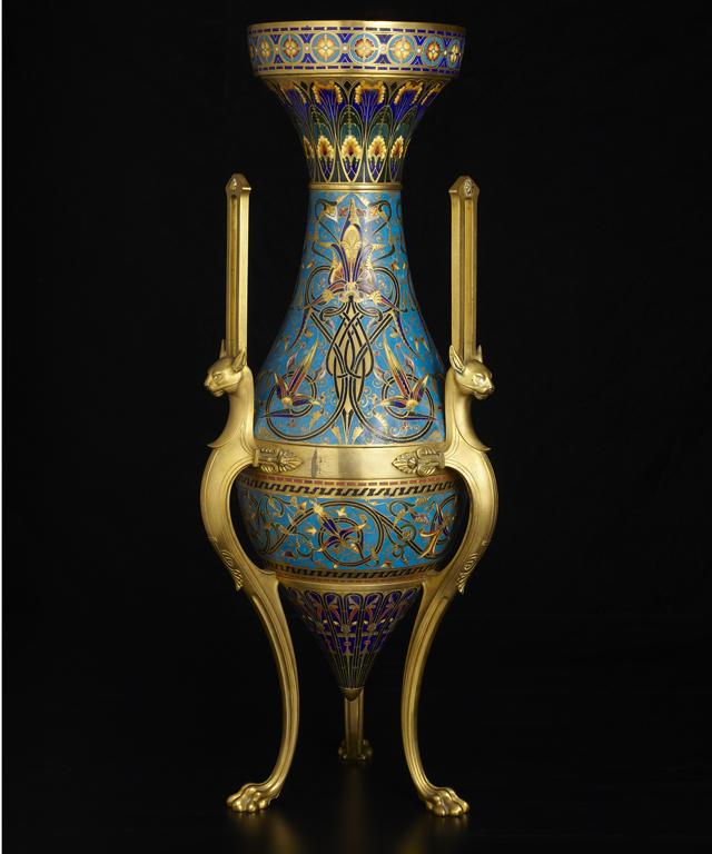 Monumental Ormolu Mounted Enamel Vase Milwaukee Art Museum